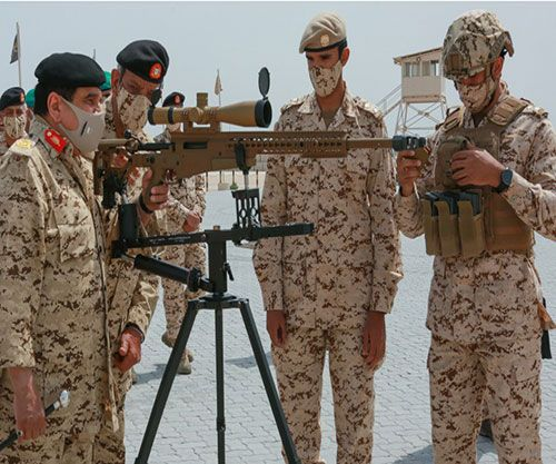Bahrain's King Attends Royal Tanks' Shooting Exercise