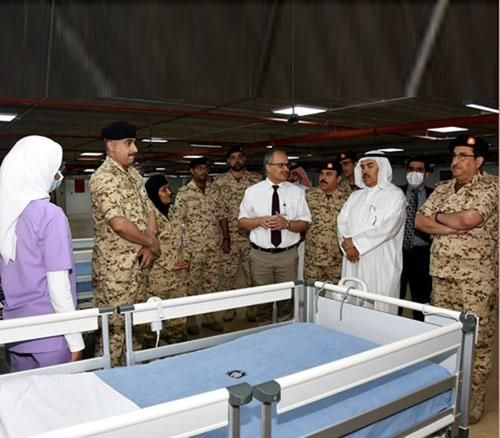 Bahrain's Defense Minister Inspects Field Intensive Care Unit