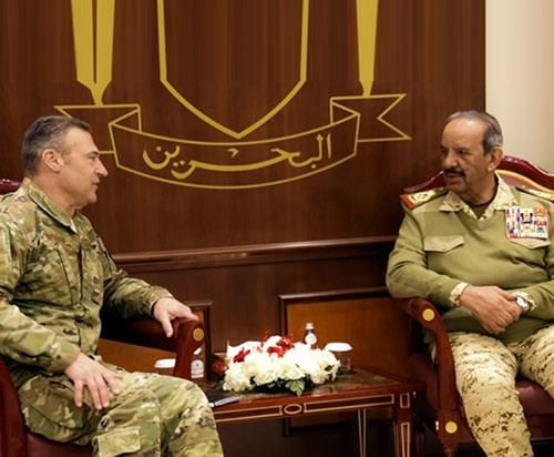 Bahrain's Defense Chief Receives US Air Forces CENTCOM Commander