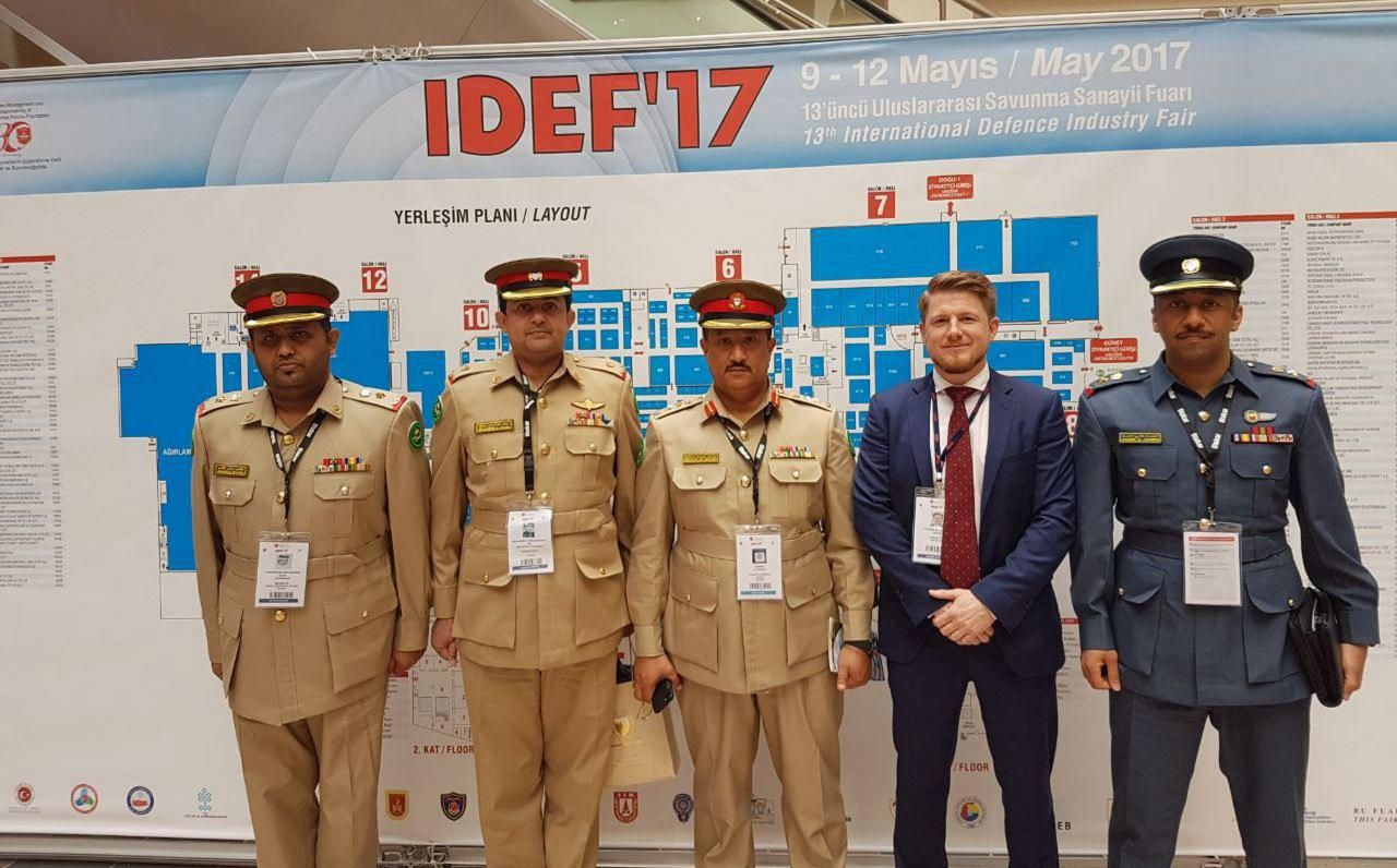 BIDEC 2017 team visit IDEF with BDF Delegation