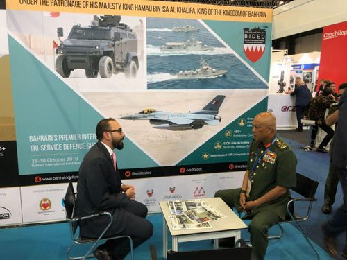 Malaysian Chief of Defence Forces visits BIDEC stand at DSA