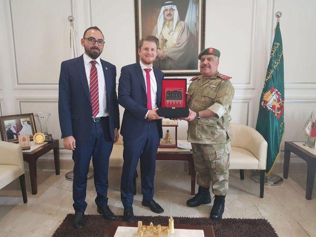 Major General Abdul Aziz Bin Saud Al Khalifa, Chief of Staff, National Guard Bahrain Presented with Appreciation Trophy