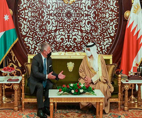 Bahrain's King Receives Jordanian Counterpart