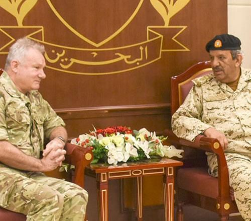 Bahrain Commander-in-Chief Receives UK Vice Defence Chief