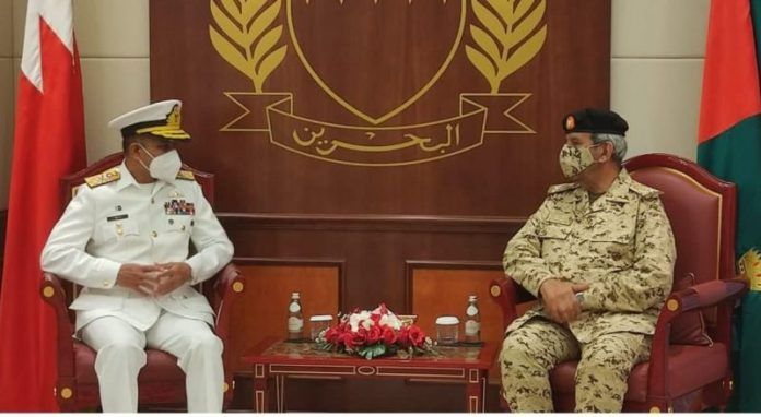 Pakistan Naval Chief meets top military leadership of Kingdom of Bahrain