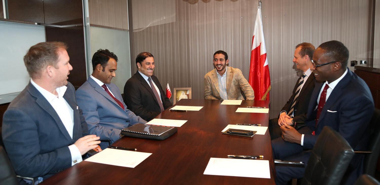 HH Shaikh Khalid bin Hamad Al Khalifa meets with potential Exhibitors in London