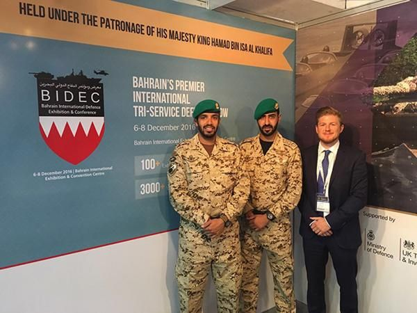BIDEC Team visit SOFEX Jordan with representatives of the Bahrain Royal Guard