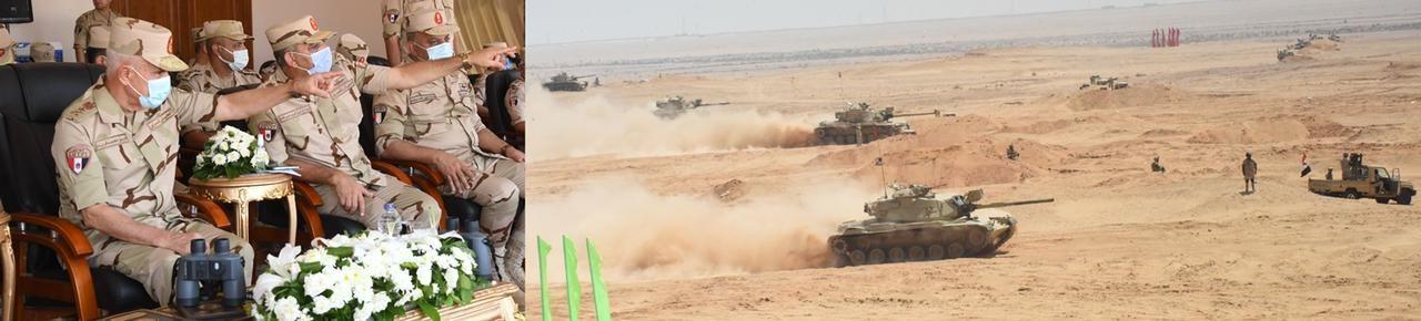 الفريق محمد فريد يشهد تنفيذ المرحلة الرئيسية للمشروع التكتيكى بجنود بدوى 2021