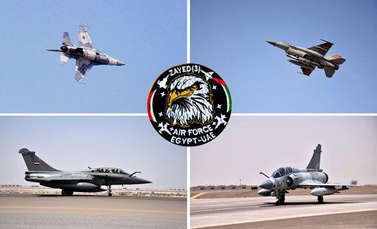 استمرار فعاليات التدريب المشترك الجوى المصرى الإماراتى (زايد-3)
