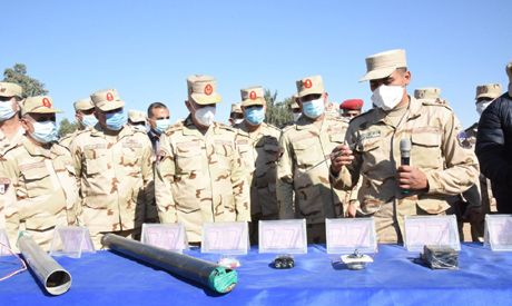 Egypt's Armed forces Chief of Staff inspects combat training camp in North Sinai