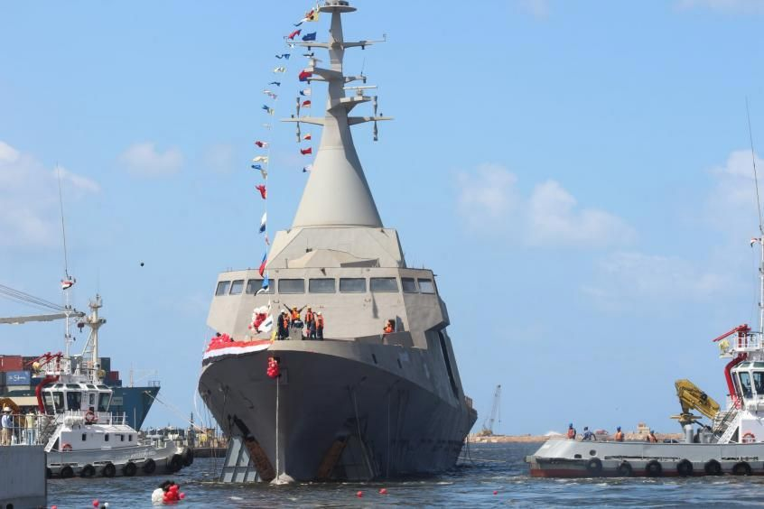 Egypt launches first locally built Gowind corvette