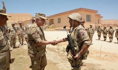 Egypt army chief-of-staff inspects security units in East Suez Canal region, follows up on Operation Sinai 2018
