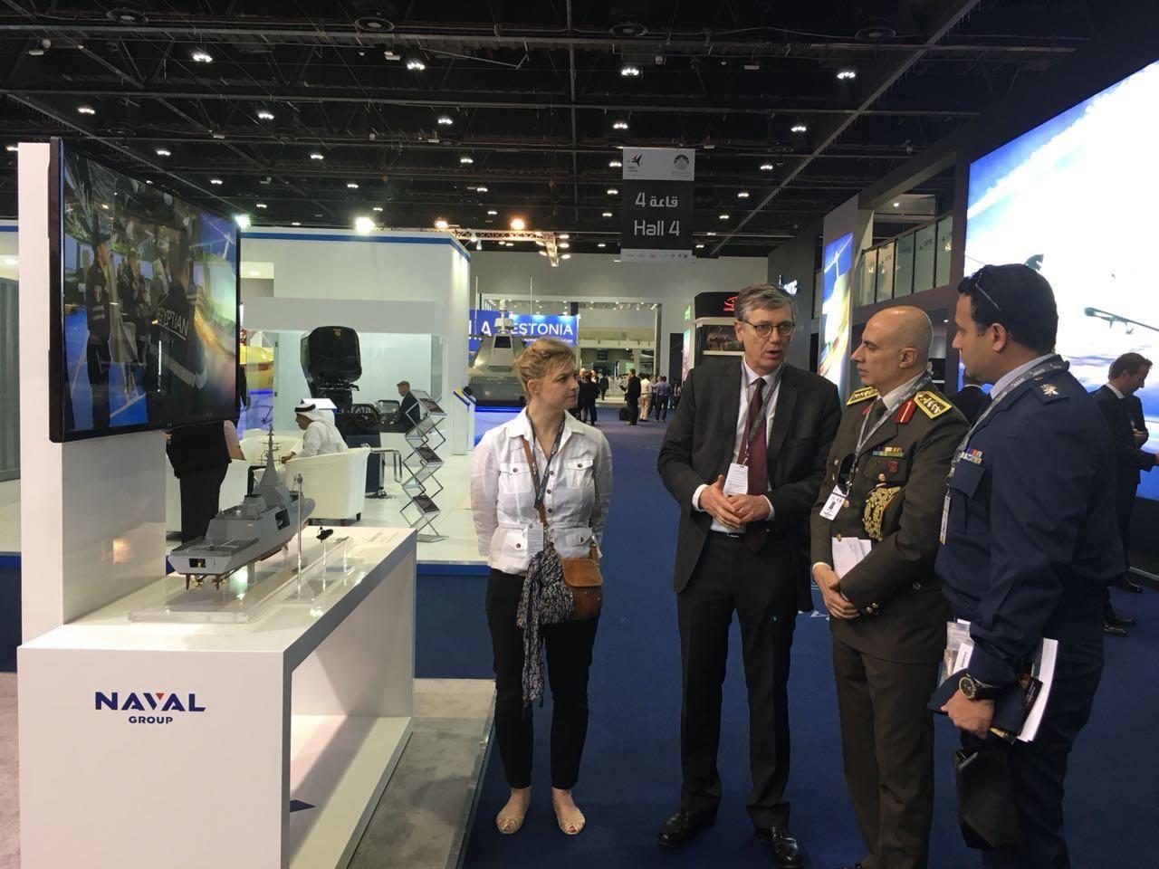 EDEX 2018 Team visit UMEX and SimTEX in Abu Dhabi