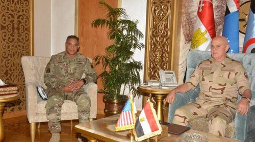 Egypt's army chief of staff meets CENTCOM commander