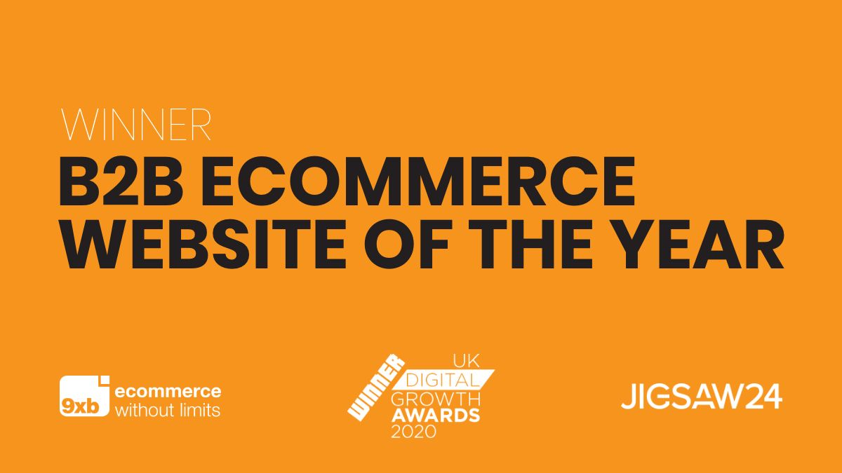 9xb takes home B2B eCommerce Website of the Year award for their work on Jigsaw24 site