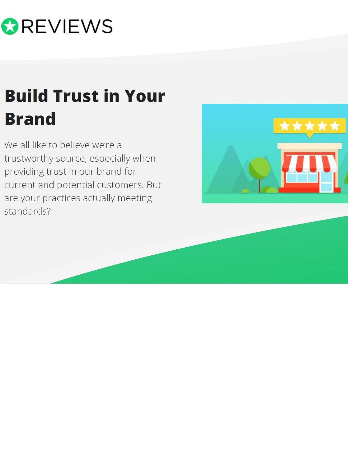Build trust in your brand
