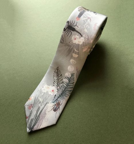 Alice Acreman silks 'Mirage' Silk Men's Tie Sage Green