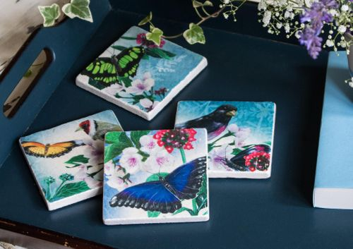 The Butterflies' Beauty - Tile Coaster collection