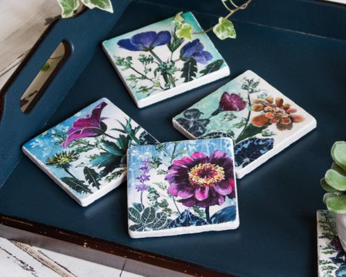 Flower Meadow - Tile Coaster collection
