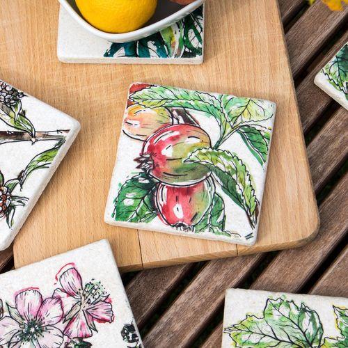 Garden Fruits - Tile coaster collection