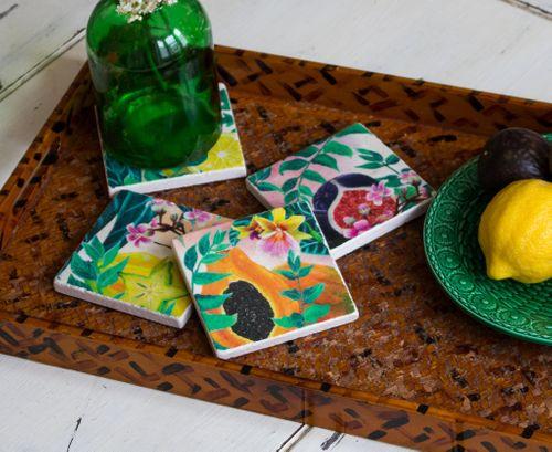 Tropical Fruits - Tile Coaster collection