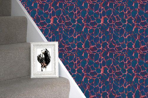 Giraffe Print Wallpaper