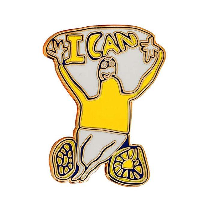 I Can Enamel Pin Badge