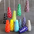 Spotty Glass Light Pull - Polka Dotty Collection - Fan Pull, Cord Pull