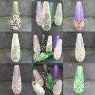 Light Pull - Floral, Flowery Light Pull, Lampwork Light Pull, Glass Light Pull, Flora Collection
