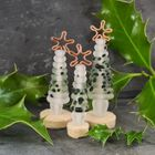 Glass Christmas Tree Ornament - Frosted Green Speckle