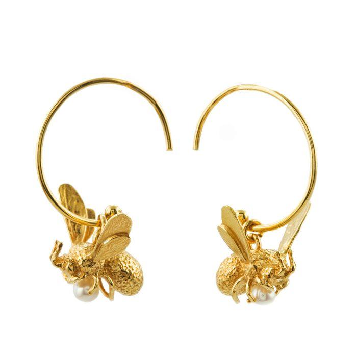 Flying Bee Earrings