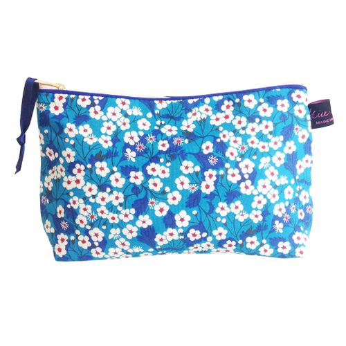 Mitsi Blue Cosmetic Bag