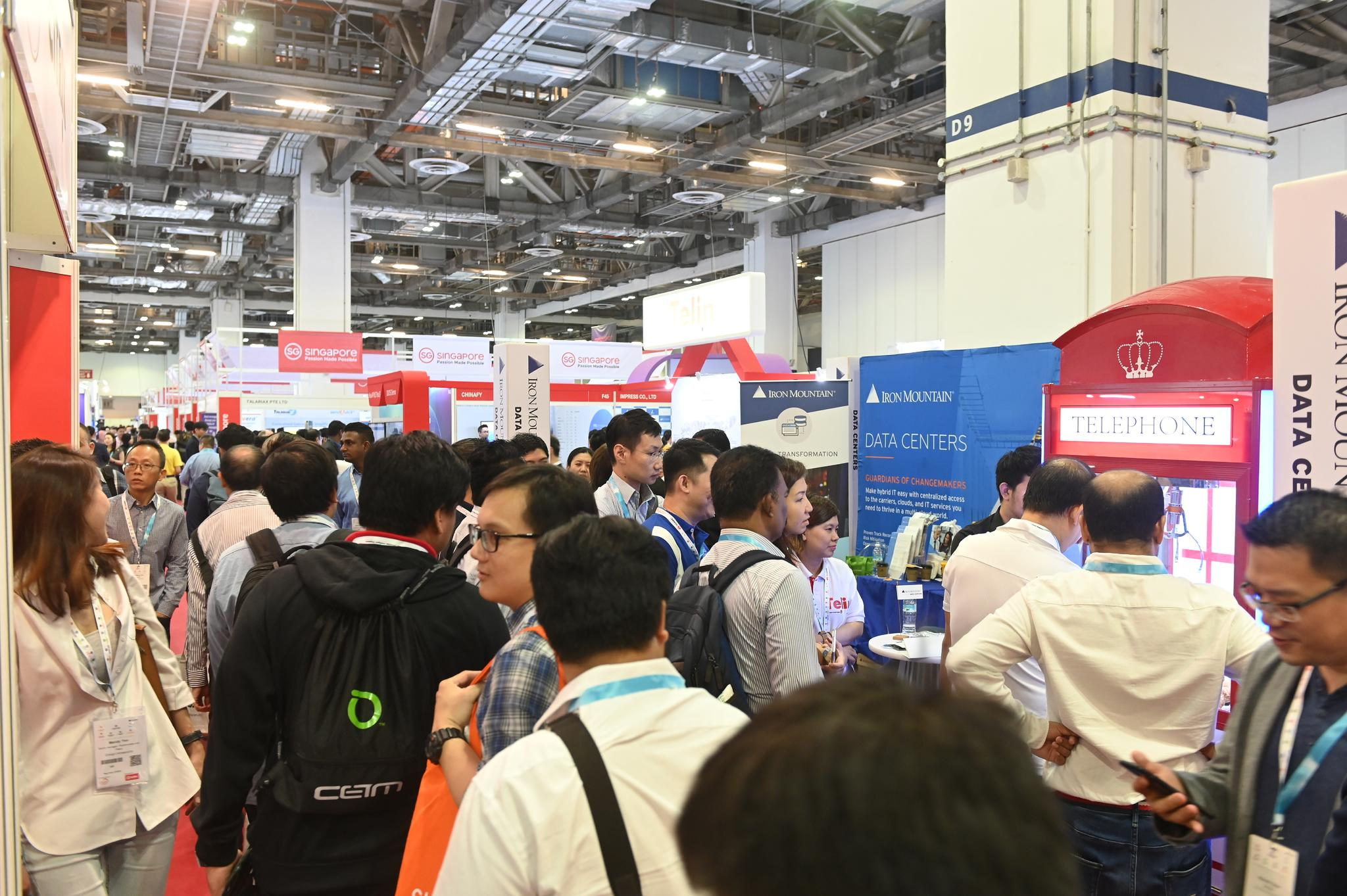 cyber security world asia singapore exhibition floor filled with delegates