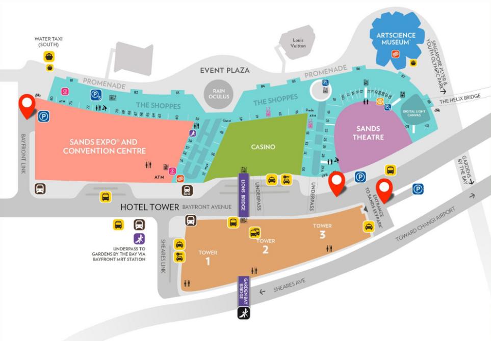 marina bay sands event map