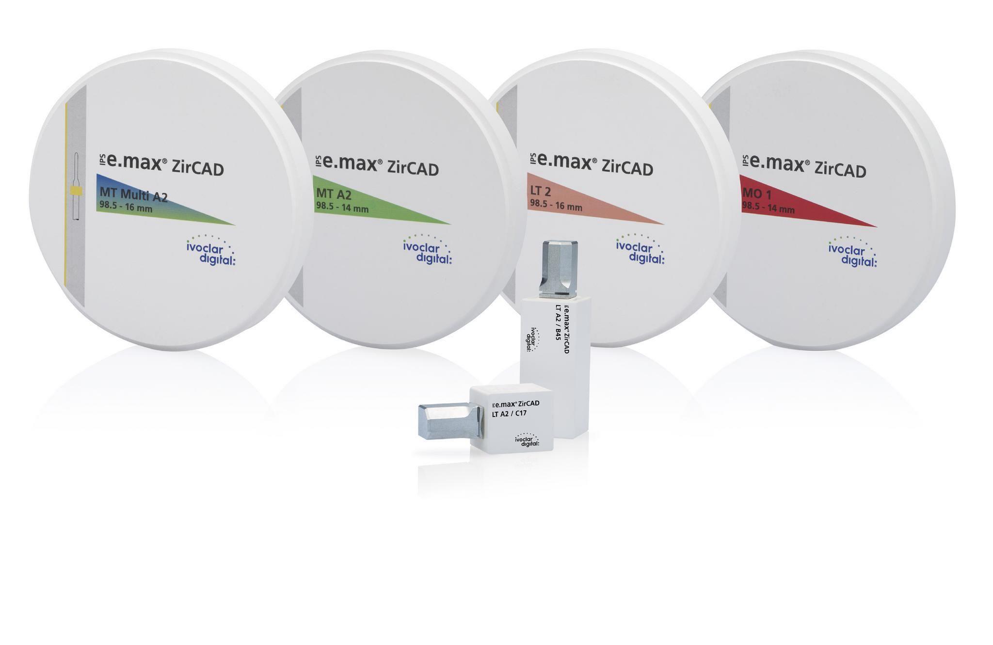 IPS e.max ZirCAD will be enhanced with new zirconia discs and blocks