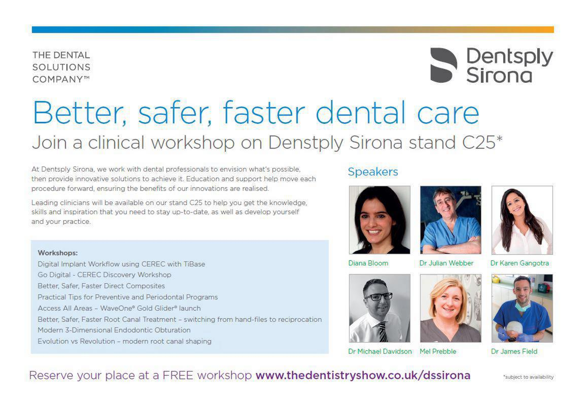 FREE clinical workshops on stand C25