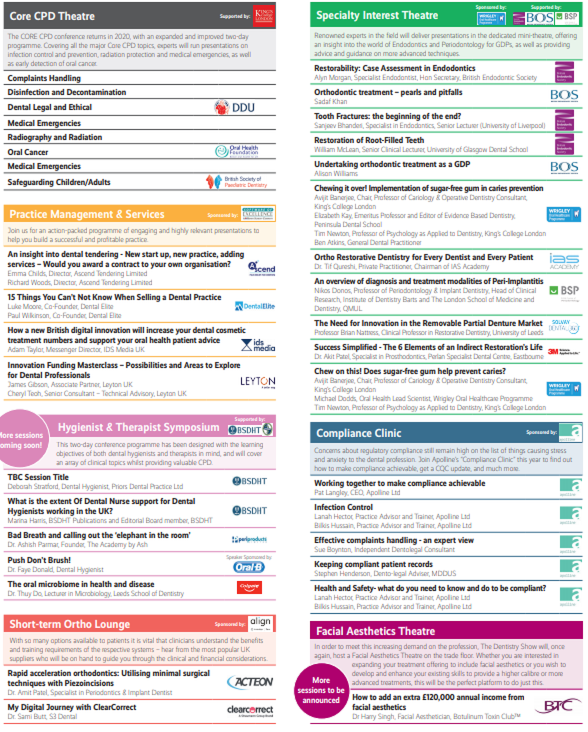Dental eCPD Programme- Highlights from BOS, BES, Oreal Health Foundation and more in 2020