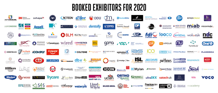 Booked 2020 Exhibitors for the 2020 Show