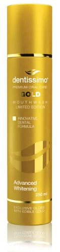 Mouthwash Advanced Whitening GOLD with edible GOLD
