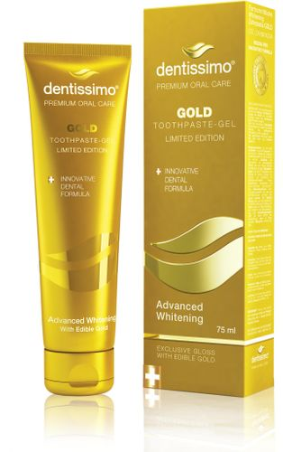 Toothpaste-gel Advanced Whitening GOLD with edible GOLD