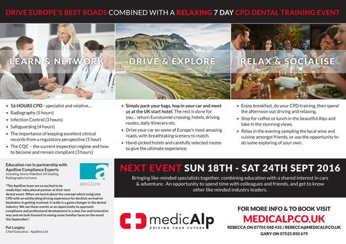 MedicAlp - Combing the thrill of a cross European Driving Adventure with Clinical Education Meetings.