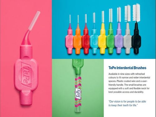 TEPE LAUNCHES REFRESHED INTERDENTAL BRUSHES -TePe Interdental Brushes: Refreshed Colours, Same Quality, Same Size -