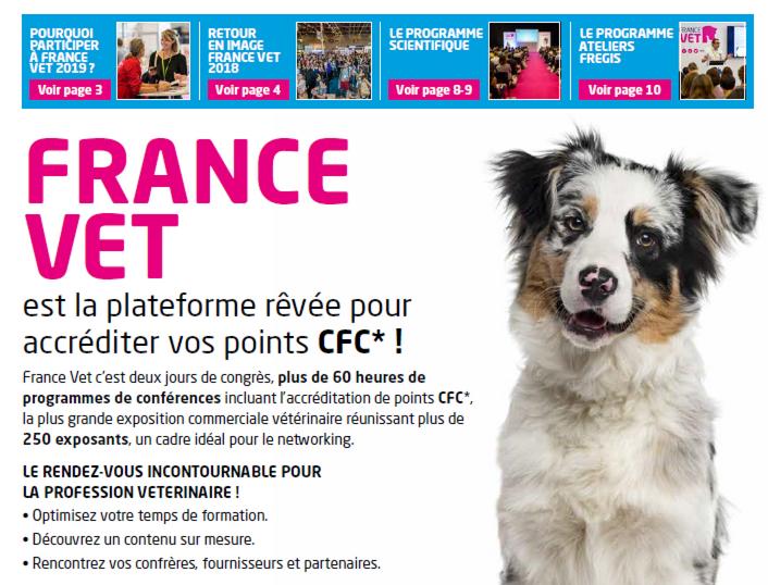 Consultez le journal France Vet en ligne