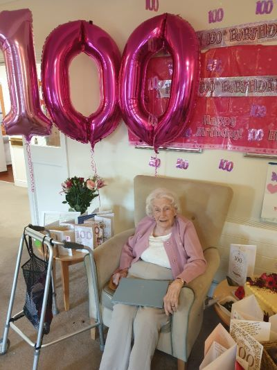 100th birthday celebrations for Swansea care home resident
