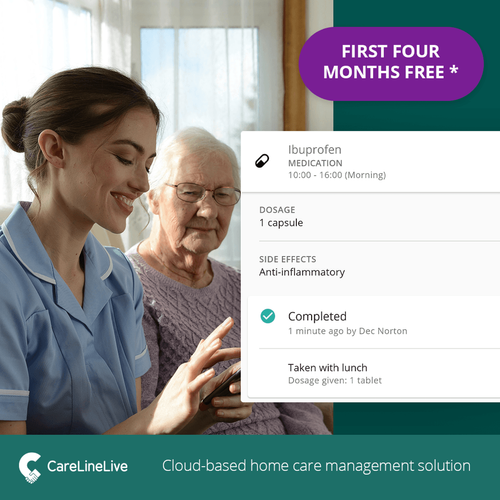 CareLineLive offers home care providers free home care software during COVID-19