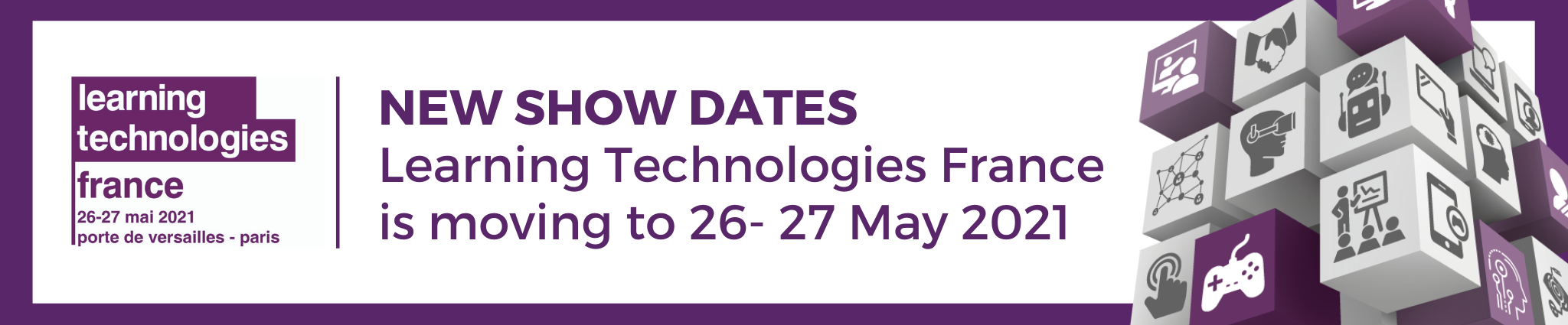 Learning Technologies France moves to May 2021