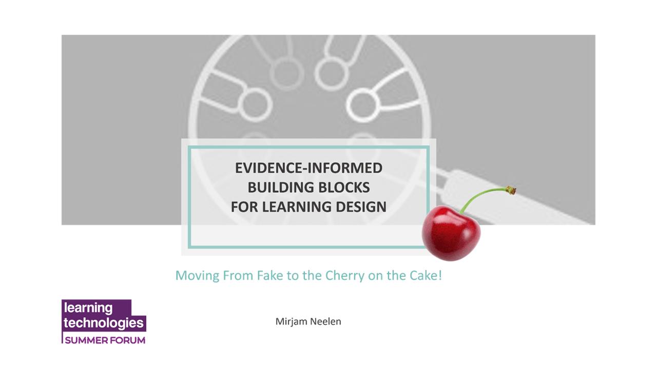Evidence-Informed Building Blocks for Learning Design
