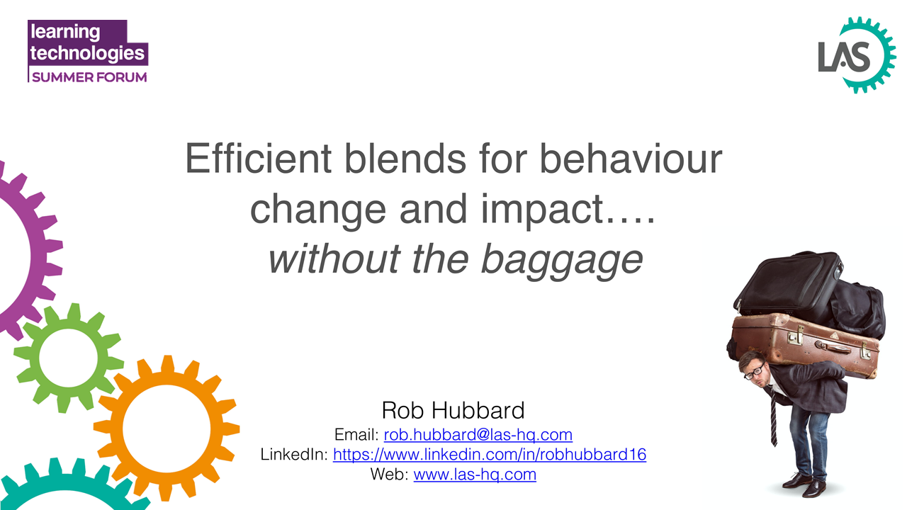 Efficient blends for behaviour change and impact, without the baggage
