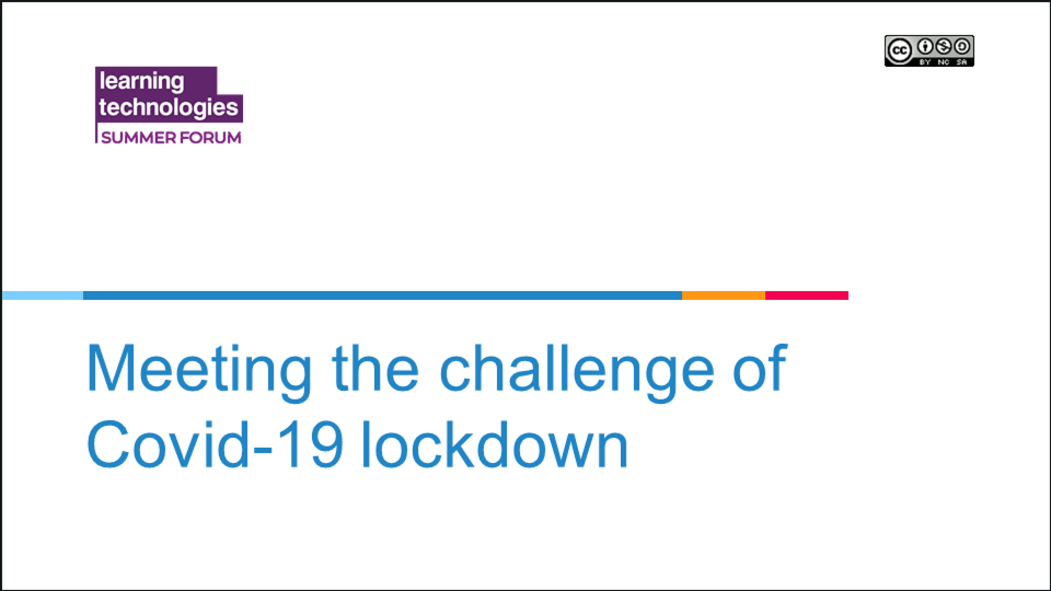 Meeting the challenge of Covid-19 lockdown