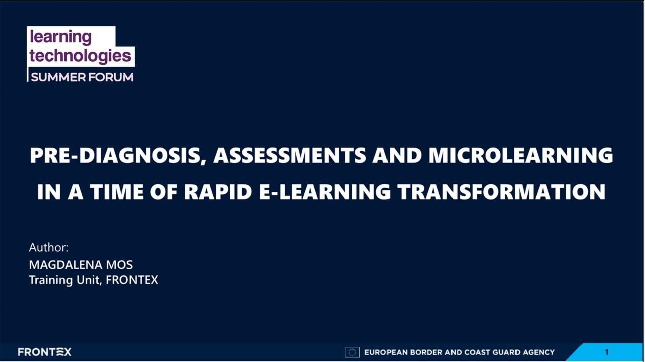 Pre-diagnosis, assessments and microlearning in a time of rapid e-Learning transformation